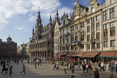 Grand Place Brussels at night Royalty Free Stock Photography
