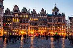 Grand place in Brussels at night Royalty Free Stock Photo