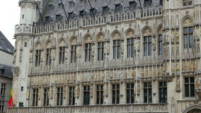 Grand place, brussels old city square, 4k stock footage