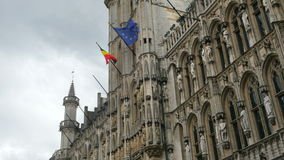 Grand place, brussels old city square, 4k stock video footage
