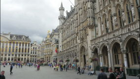 Grand place, brussels old city square, timelapse, 4k stock footage