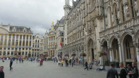 Grand place, brussels old city square, timelapse, zoom in, 4k stock footage