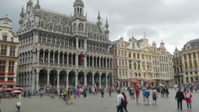 Grand place, brussels old city square, timelapse, zoom in, 4k stock video footage