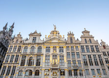Grand place in Brussels in twilight Stock Photo