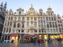 Grand place in Brussels in twilight Royalty Free Stock Image