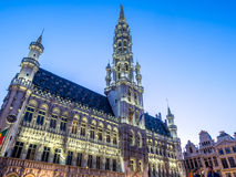 Grand place in Brussels in twilight Royalty Free Stock Photos