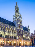 Grand place in Brussels in twilight Stock Image
