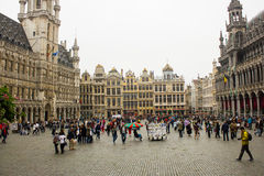Grand Place, Brussels: view from SW to NE side Stock Photo