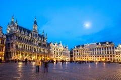 Grand Place Bruxelles, Belgio Fotografia Stock Libera da Diritti
