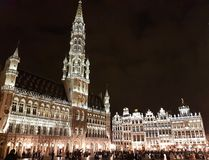 Grand Place of Bruxelles. The Grand Place is the central square of the city of Bruxelles royalty free stock image