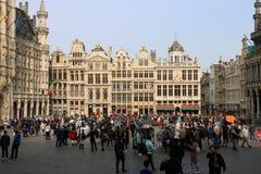 Grand Place Bryssel Belgien Fotografering för Bildbyråer