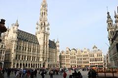 Grand Place Bryssel Belgien Arkivfoton