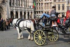 Grand Place Bryssel Belgien Royaltyfria Bilder