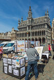Grand Place is the city center of Brussels Stock Image