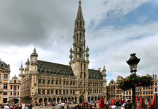 Grand Place with City Hall, Brussels, Belgium Stock Image
