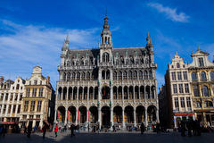 Grand Place de Bruxelles. The Central Square in Brussels. Picture was taken on February 6, 2010 royalty free stock photography