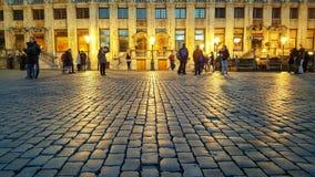 Grand Place dourado, Bruxelas Imagens de Stock