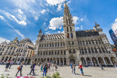 Grand Place em Bruxelas, Bélgica Imagem de Stock Royalty Free