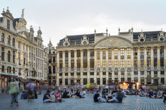 Grand Place en Bruselas Foto de archivo