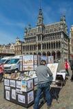 Grand Place est le centre de la ville de Bruxelles Image stock
