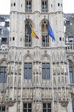 Grand place - famous square in Brussels stock images