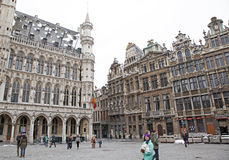 Grand place - famous square in Brussels Stock Photos