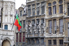 Grand place - famous square in Brussels Royalty Free Stock Photography