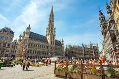 Grand Place (Grote Markt) à Bruxelles, Belgique photographie stock libre de droits
