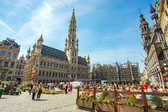 Grand Place (Grote Markt) in Brussels, Belgium Royalty Free Stock Photography