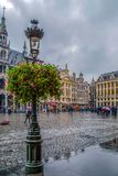 Grand Place with the House of Dukes of Brabant, one part of King stock images