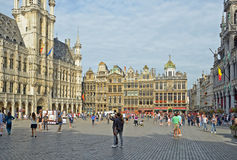 Grand Place on July 22, 2013 Royalty Free Stock Photo
