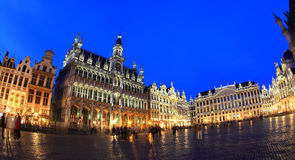 The Grand Place at night in Brussel Royalty Free Stock Photography