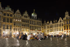 Grand Place at night. Brussels. Belgium. The Grand Place at night. Brussels. Belgium Royalty Free Stock Photos
