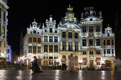 Grand Place at night. Brussels. Belgium. The Grand Place at night. Brussels. Belgium Stock Image