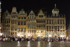 Grand Place at night. Brussels. Belgium. The Grand Place at night. Brussels. Belgium Stock Photography