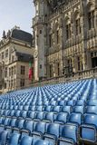 Grand Place Square with established. Brussels, Belgium - July 04, 2018: Grand Place Square with established royalty free stock photos