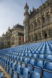 Grand Place Square with established. Brussels, Belgium - July 04, 2018: Grand Place Square with established stock photos
