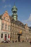 Grand Place stadshus, Mons, Belgien Arkivfoton