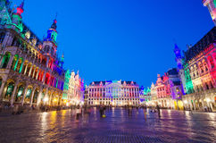 Grand Place at twilight in Brussels Royalty Free Stock Photography