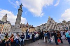 Grand Place van Lille, Frankrijk Stock Afbeeldingen