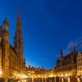 Grand Place y plaza, Brusseles Fotografía de archivo libre de regalías
