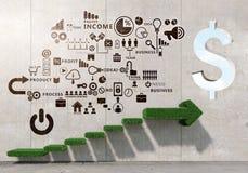 Grand plan pour la croissance financière images libres de droits