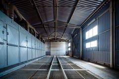 Grand plancher de trellis de hangar photos libres de droits