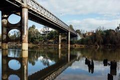 Grand pont du 19ème siècle - regard de film Image libre de droits
