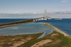 Grand pont en ceinture au Danemark Photo stock