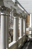 Grand Porch. The columns of a grand porch Stock Photo