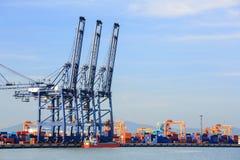 Grand port industriel photo libre de droits