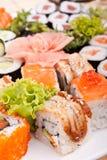 Grand positionnement de sushi Photographie stock