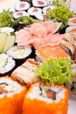Grand positionnement de sushi Images libres de droits