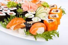 Grand positionnement de sushi Photos libres de droits